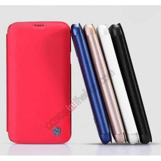 on sale Nillkin Rain Series Side Flip Leather Case for Samsung Galaxy S5 - Red