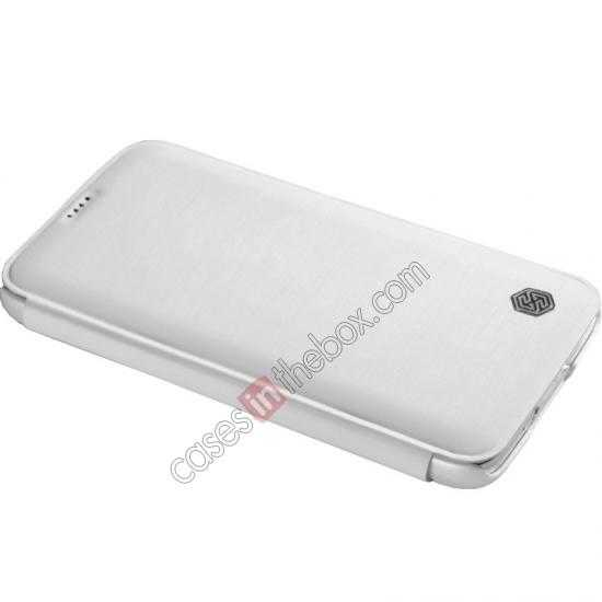 top quality Nillkin Rain Series Side Flip Leather Case for Samsung Galaxy S5 - White