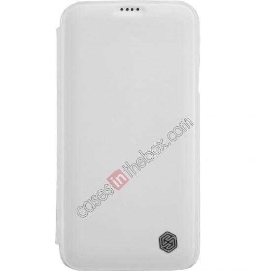 wholesale Nillkin Rain Series Side Flip Leather Case for Samsung Galaxy S5 - White