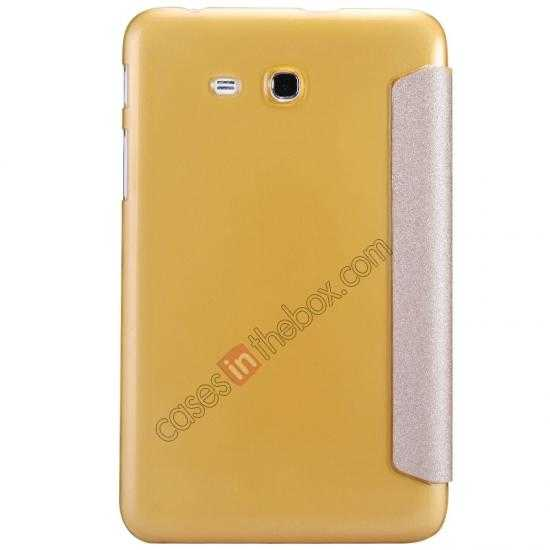 discount Nillkin Sparkle Leather Stand Case for Samsung Galaxy Tab 3 Lite 7 T110 - Champaign Gold