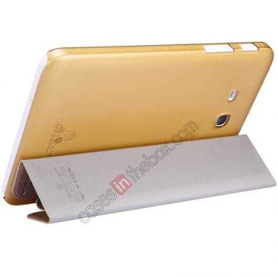 cheap Nillkin Sparkle Leather Stand Case for Samsung Galaxy Tab 3 Lite 7 T110 - Champaign Gold