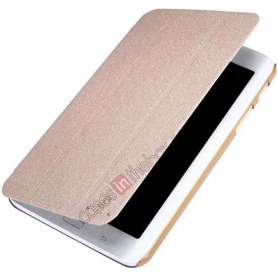 best price Nillkin Sparkle Leather Stand Case for Samsung Galaxy Tab 3 Lite 7 T110 - Champaign Gold