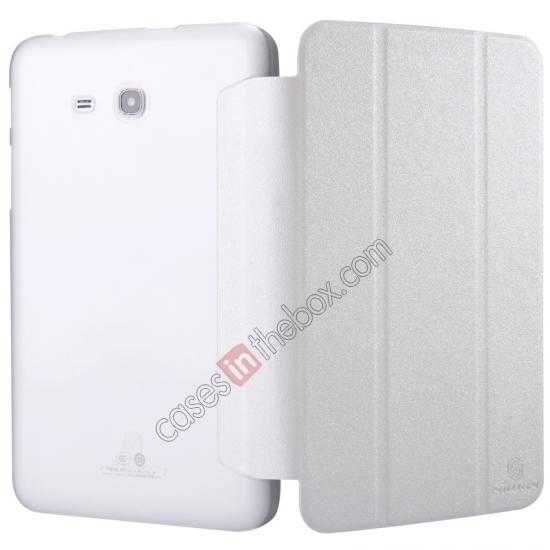 cheap Nillkin Sparkle Leather Stand Case for Samsung Galaxy Tab 3 Lite 7 T110 - White
