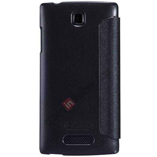 cheap Nillkin Sparkle Series Side Flip Leather Case for OPPO R831T - Black