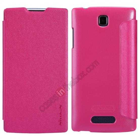 wholesale Nillkin Sparkle Series Side Flip Leather Case for OPPO R831T - Rose