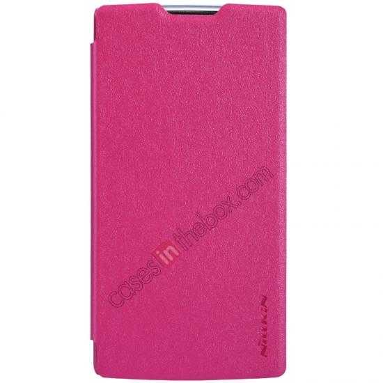 discount Nillkin Sparkle Series Side Flip Leather Case for OPPO R831T - Rose