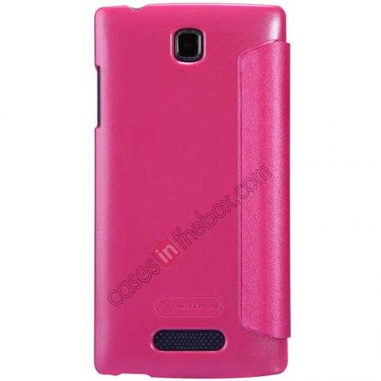 cheap Nillkin Sparkle Series Side Flip Leather Case for OPPO R831T - Rose