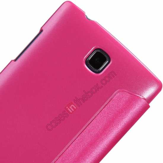 on sale Nillkin Sparkle Series Side Flip Leather Case for OPPO R831T - Rose