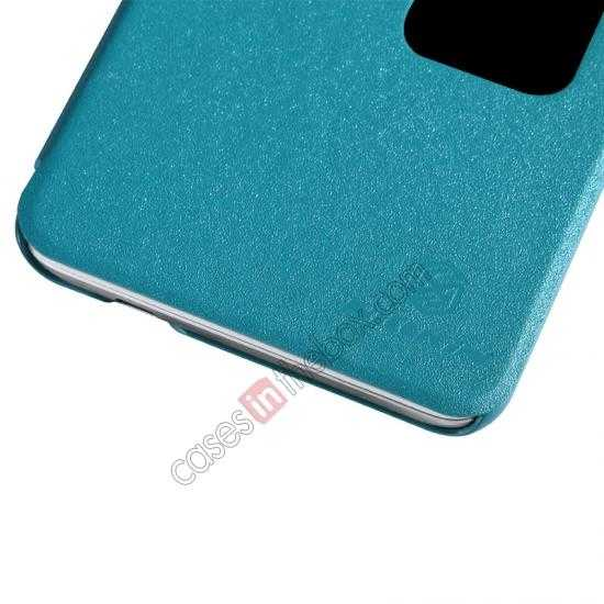 top quality Nillkin Sparkle Series View Window Flip Leather Case for HUAWEI MATE 2 - Ocean Green