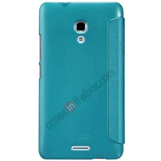 best price Nillkin Sparkle Series View Window Flip Leather Case for HUAWEI MATE 2 - Ocean Green