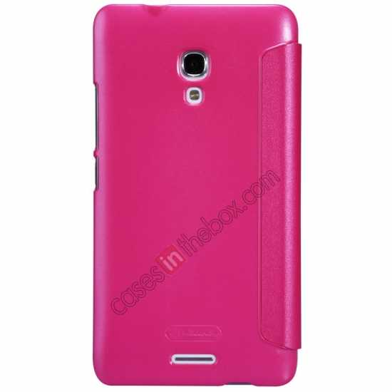 cheap Nillkin Sparkle Series View Window Flip Leather Case for HUAWEI MATE 2 - Rose Red