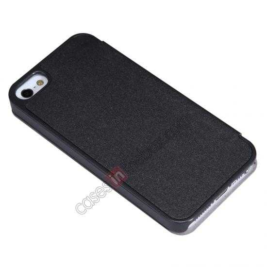 discount Nillkin Sparkle Series View Window Flip Leather Case for iPhone 5S/5 - Black