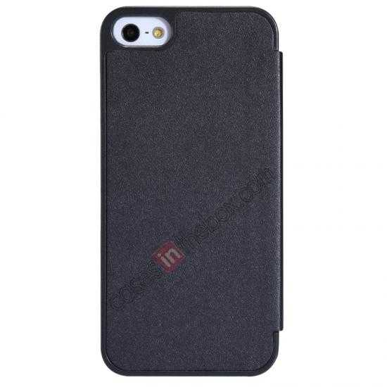 cheap Nillkin Sparkle Series View Window Flip Leather Case for iPhone 5S/5 - Black