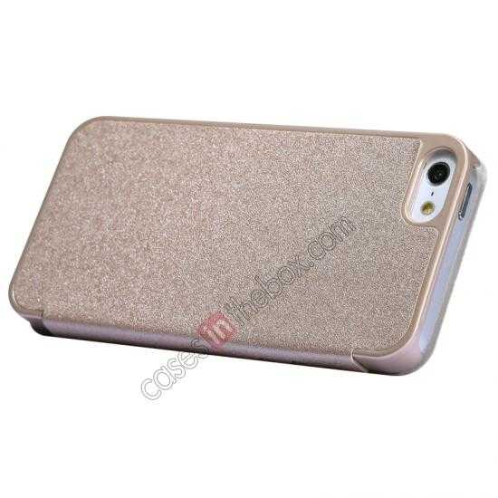 best price Nillkin Sparkle Series View Window Flip Leather Case for iPhone 5S/5 - Champaign Gold
