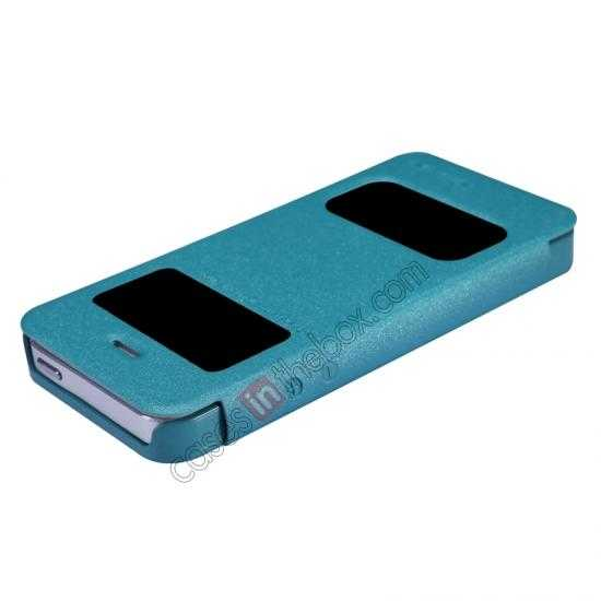 discount Nillkin Sparkle Series View Window Flip Leather Case for iPhone 5S/5 - Ocean Green