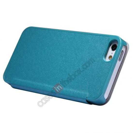 cheap Nillkin Sparkle Series View Window Flip Leather Case for iPhone 5S/5 - Ocean Green