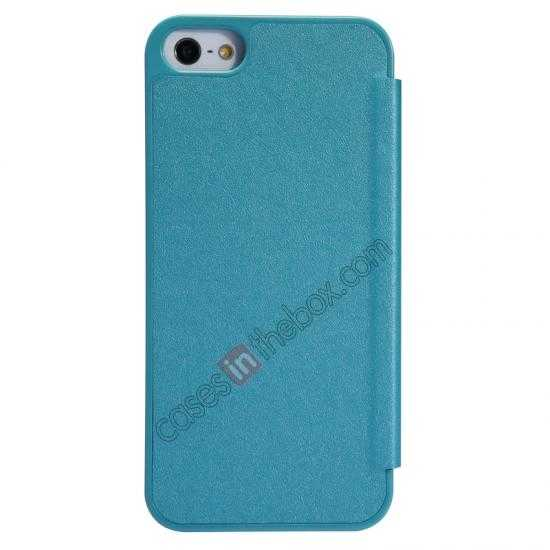 top quality Nillkin Sparkle Series View Window Flip Leather Case for iPhone 5S/5 - Ocean Green
