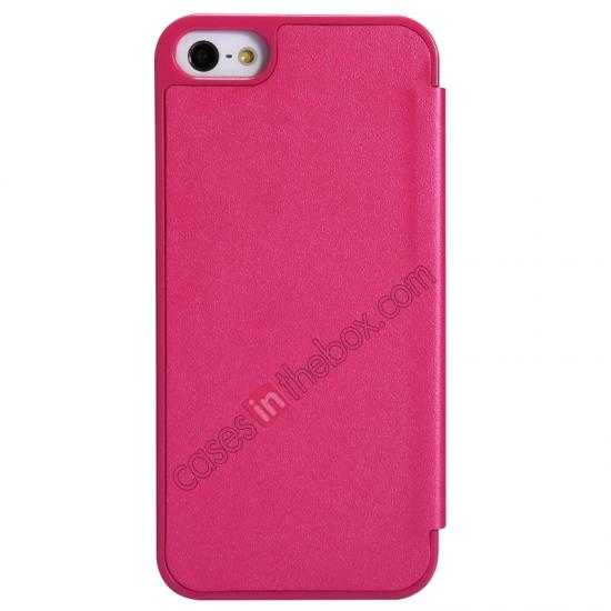 best price Nillkin Sparkle Series View Window Flip Leather Case for iPhone 5S/5 - Rose Red