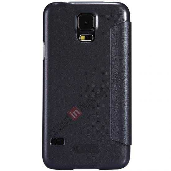discount Nillkin Sparkle Series View Window Flip Leather Case for Samsung Galaxy S5 G900 - Black