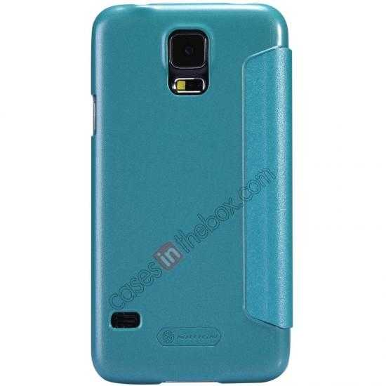 discount Nillkin Sparkle Series View Window Flip Leather Case for Samsung Galaxy S5 G900 - Blue