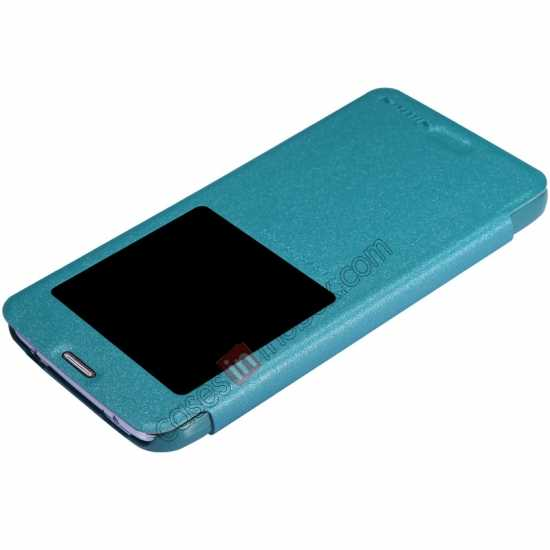 cheap Nillkin Sparkle Series View Window Flip Leather Case for Samsung Galaxy S5 G900 - Blue