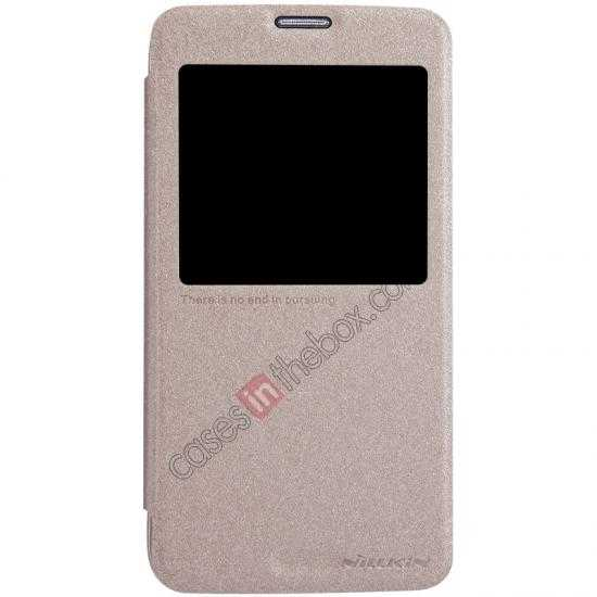 wholesale Nillkin Sparkle Series View Window Flip Leather Case for Samsung Galaxy S5 G900 - Champaign Gold