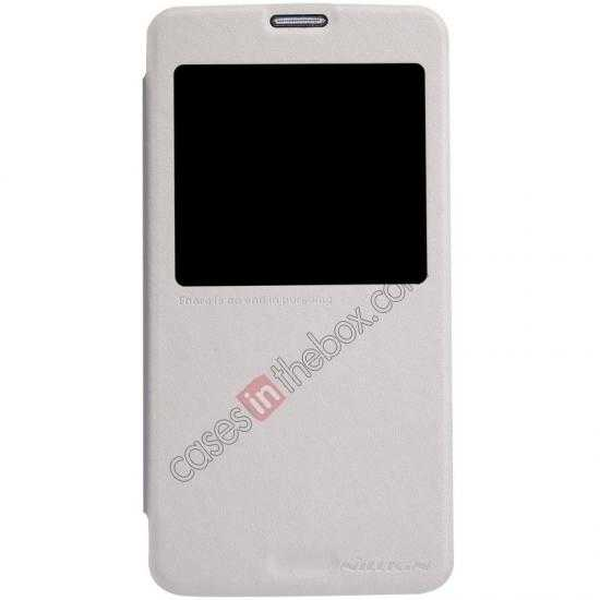 wholesale Nillkin Sparkle Series View Window Flip Leather Case for Samsung Galaxy S5 G900 - White