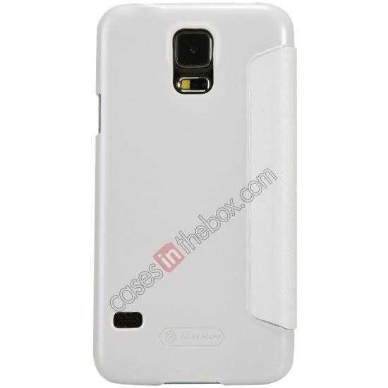 discount Nillkin Sparkle Series View Window Flip Leather Case for Samsung Galaxy S5 G900 - White