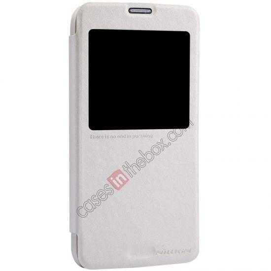 best price Nillkin Sparkle Series View Window Flip Leather Case for Samsung Galaxy S5 G900 - White