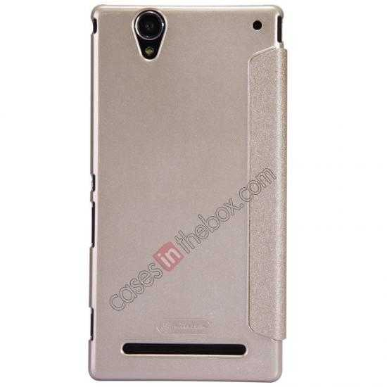 best price Nillkin Sparkle Series View Window Flip Leather Case for Sony Xperia T2 Ultra XM50h - Champaign Gold