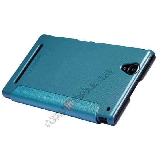 best price Nillkin Sparkle Series View Window Flip Leather Case for Sony Xperia T2 Ultra XM50h - Ocean Green