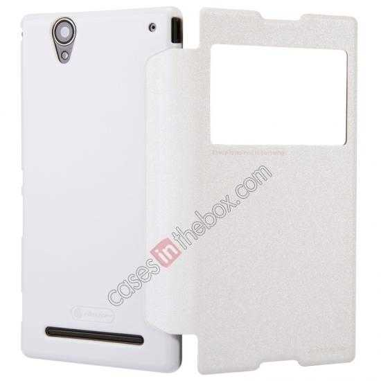 on sale Nillkin Sparkle Series View Window Flip Leather Case for Sony Xperia T2 Ultra XM50h - White