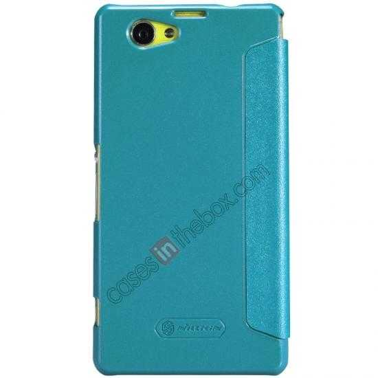 cheap Nillkin Sparkle Series View Window Flip Leather Case for Sony Xperia Z1 Compact M51W - Blue