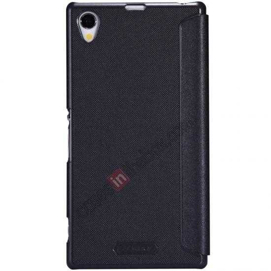 discount Nillkin Sparkle Series View Window Flip Leather Case for Sony Xperia Z1 L39h - Black