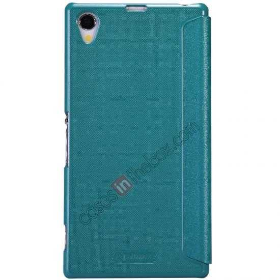 discount Nillkin Sparkle Series View Window Flip Leather Case for Sony Xperia Z1 L39h - Blue