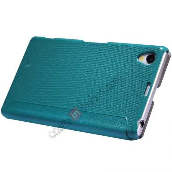 cheap Nillkin Sparkle Series View Window Flip Leather Case for Sony Xperia Z1 L39h - Blue