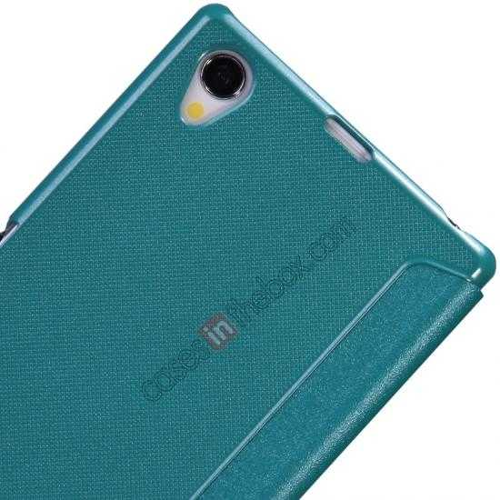 best price Nillkin Sparkle Series View Window Flip Leather Case for Sony Xperia Z1 L39h - Blue