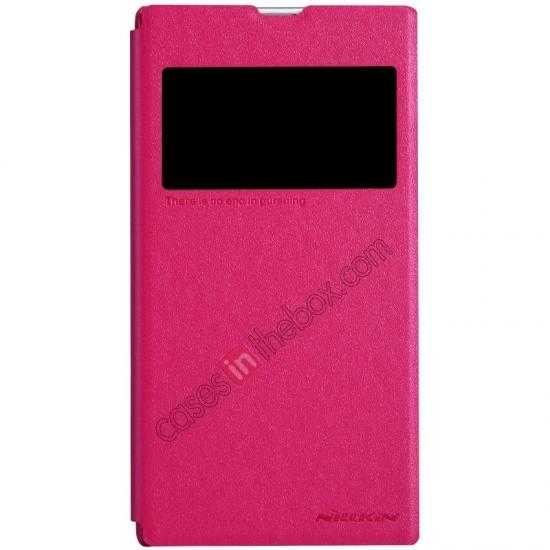wholesale Nillkin Sparkle Series View Window Flip Leather Case for Sony Xperia Z1 L39h - Rose