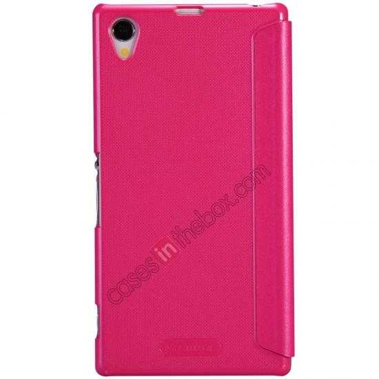 discount Nillkin Sparkle Series View Window Flip Leather Case for Sony Xperia Z1 L39h - Rose