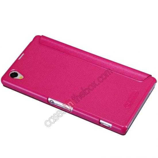 best price Nillkin Sparkle Series View Window Flip Leather Case for Sony Xperia Z1 L39h - Rose
