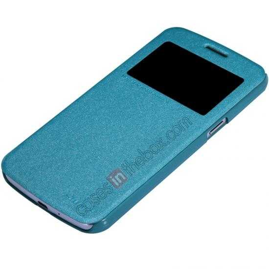 cheap Nillkin Sparkle Series Window View Flip Leather Case for Samsung Galaxy Grand 2/G7106 - Blue