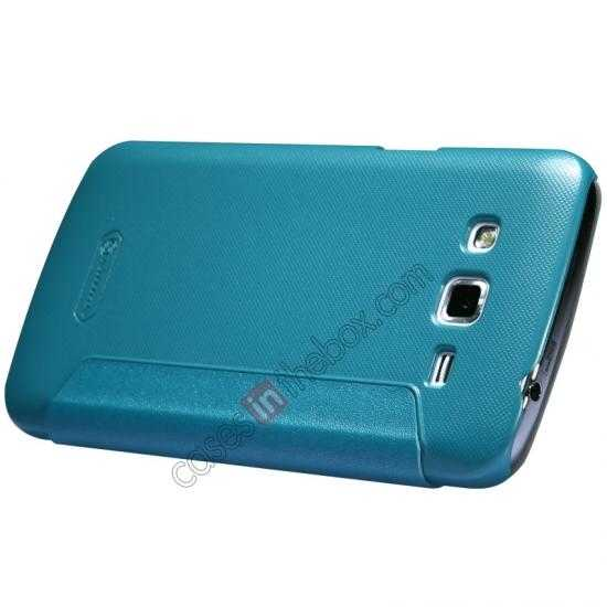 top quality Nillkin Sparkle Series Window View Flip Leather Case for Samsung Galaxy Grand 2/G7106 - Blue