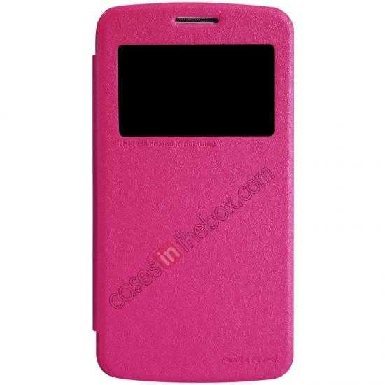 wholesale Nillkin Sparkle Series Window View Flip Leather Case for Samsung Galaxy Grand 2/G7106 - Rose