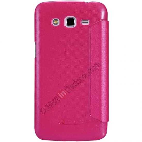 discount Nillkin Sparkle Series Window View Flip Leather Case for Samsung Galaxy Grand 2/G7106 - Rose