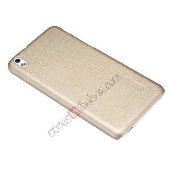 best price Nillkin Super Frosted Shield Hard Case w/ Screen Film for HTC Desire 816 - Golden