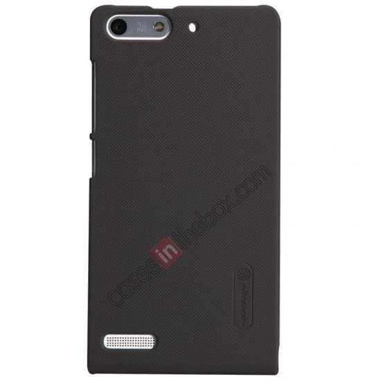 top quality Nillkin Super Frosted Shield Hard Case w/ Screen Film for HUAWEI Ascend G6 - Brown