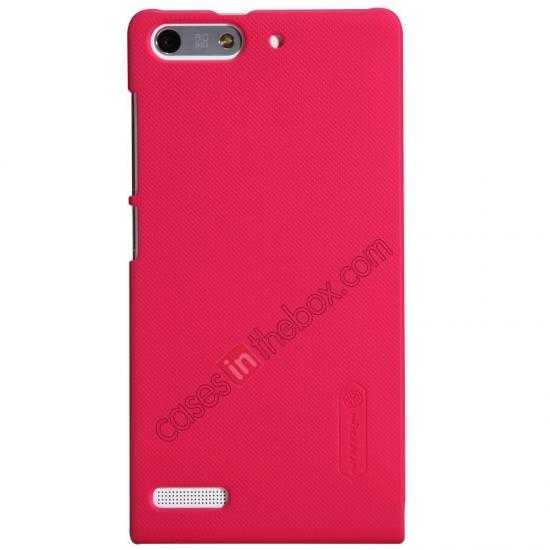 cheap Nillkin Super Frosted Shield Hard Case w/ Screen Film for HUAWEI Ascend G6 - Red