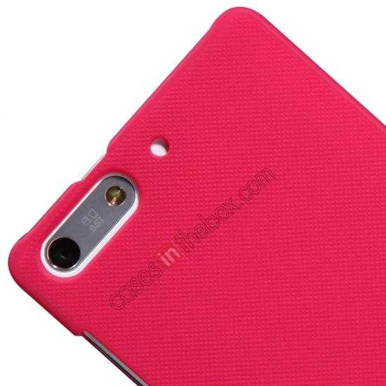 best price Nillkin Super Frosted Shield Hard Case w/ Screen Film for HUAWEI Ascend G6 - Red
