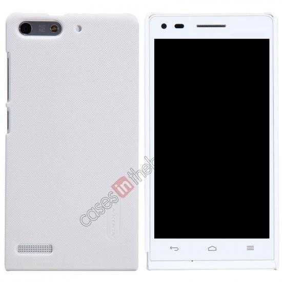 wholesale Nillkin Super Frosted Shield Hard Case w/ Screen Film for HUAWEI Ascend G6 - White