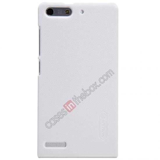 cheap Nillkin Super Frosted Shield Hard Case w/ Screen Film for HUAWEI Ascend G6 - White